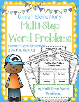 Multi Step Word Problems {14 printables, 3.OA.D.8, 4.OA.A.3}