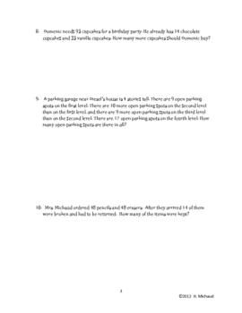multi step word problems 3rd grade pdf