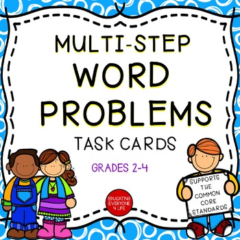 Math Task Cards - Multi-Step Word Problems