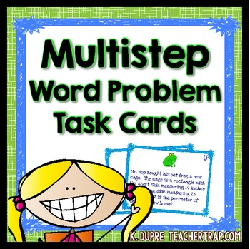 Multistep Word Problems (Task Cards)