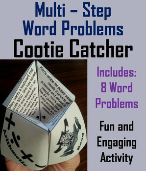 Multi-Step Word Problems Game (Practice Activity) for 3rd 4th 5th Grade