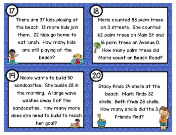 Two Step Addition and Subtraction Word Problems with 2 ...