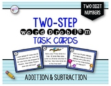 Two Step Addition and Subtraction Word Problems with 2 dig