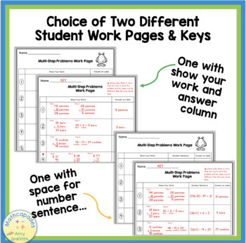 Multi-Step Word Problems Task Cards ~ TEKS 3.4A & 3.4K