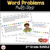 Multi Step Word Problems 3rd Grade Math BUNDLE
