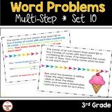 Multi Step Word Problems 3rd Grade Math SET 10