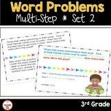 Multi Step Word Problems 3rd Grade Math SET 2