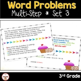 Multi Step Word Problems 3rd Grade Math SET 3