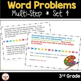 Multi Step Word Problems 3rd Grade Math SET 4