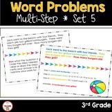 Multi Step Word Problems 3rd Grade Math SET 5