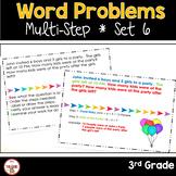 Multi Step Word Problems 3rd Grade Math SET 6