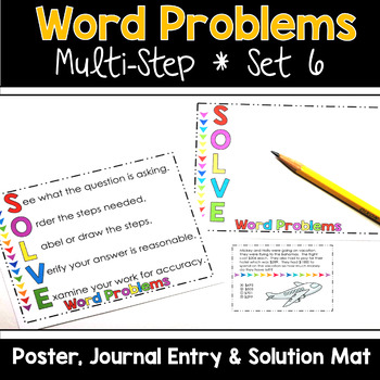 Multi Step Word Problems 3rd Grade Math SET 6