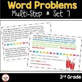 Multi Step Word Problems 3rd Grade Math SET 7