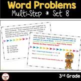 Multi Step Word Problems 3rd Grade Math SET 8