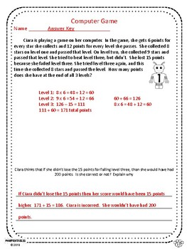 Challenging Word Problems - 3rd Grade - Multi-Step - Common Core Aligned