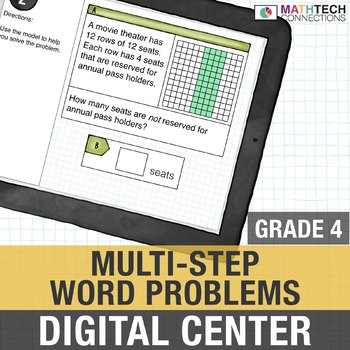 Multi-Step Word Problems - 4th Grade Google Slides™ Math Center