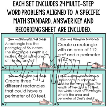 Multi-Step Word Problems 4th Grade Math Area and Perimeter 4.MD.3