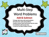 Multi-Step Word Problems--Add & Subtract with Regrouping