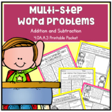 Multi-Step Word Problems Addition & Subtraction 4th Grade Math 4.OA.A.3 NO PREP
