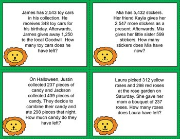 Multistep Word Problems (Addition and Subtraction)