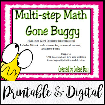 Multi-Step Word Problems (All Operations): Gone Buggy  TEK