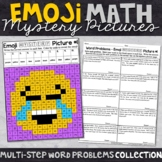Multi-Step Word Problems   Emoji Math Mystery Pictures