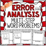 Multi-Step Word Problems Error Analysis   Distance Learning   Google Classroom