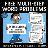 Multi-Step Word Problems FREE
