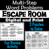 Multi-Step Word Problems Activity: Escape Room Math Breakout Game