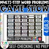 Multi-Step Word Problems Game Show | 4th Grade 4.OA.3 | Di