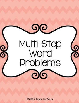 Multi-Step Word Problems Half Cards
