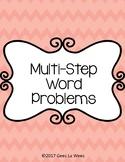 Multi-Step Word Problems Half Cards
