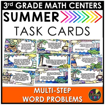 Multi-Step Word Problems Summer Game
