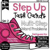 Multi-Step Word Problems Multiplication & Division Task Cards Digital Google