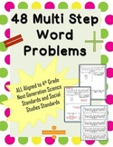 Multi Step Word Problems {NGSS&SS Aligned}
