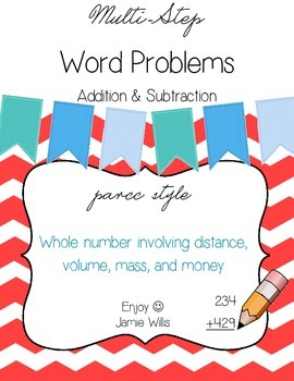Multi-Step Word Problems Pack: Whole Number Addition & Subtraction