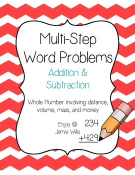 Multi-Step Word Problems Pack: Whole Number Addition and Subtraction