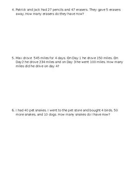 Multi-Step Word Problems Quiz