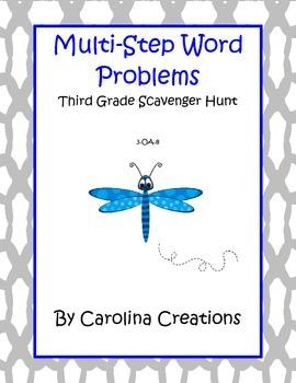 Multi-Step Word Problems Scavenger Hunt - 3.OA.8