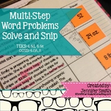 Multi-Step Solve and Snip® Interactive Word Problems