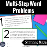 Multi-Step Word Problems Stations Maze  4.OA.3