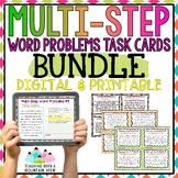 Multi-Step Word Problems Task Card BUNDLE