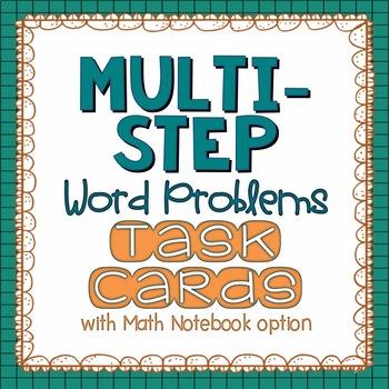 Multi-Step Word Problems {Math Challenge Task Cards}