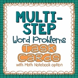 Multi-Step Word Problems {Math Challenge Task Cards}