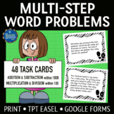 Multistep Word Problems 4 Operations Task Cards