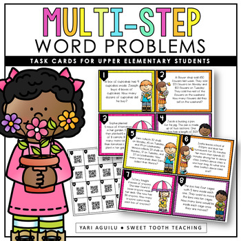 Multi-Step Word Problems Task Cards