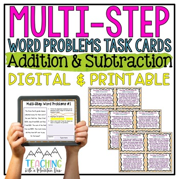 multi step word problems task cards by teaching with a mountain view. Black Bedroom Furniture Sets. Home Design Ideas