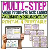 Add & Subtract Multi-Step Word Problems   Distance Learning   Google Classroom