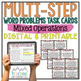 Multi-Step Word Problems Task Cards { All Operations Story Problems }