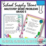 Multiplication Division Multistep Word Problems Task Cards